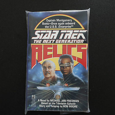 Vintage Star Trek Tng Relics Paperback Book Novel (1993)