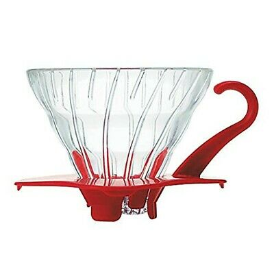 Hario : V60 Glass Coffee Dripper Size 01 - Red - for 1-2 cups (VDG-01R)