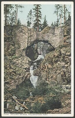 "Wyoming, USA Natural Bridge, Yellowstone Park Vintage ""Phostint CM"