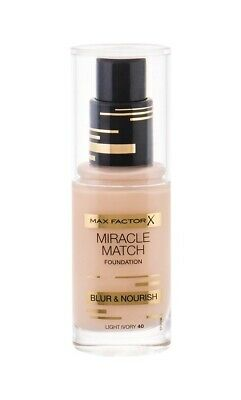 Max Factor Miracle Match Blur & Nourish Foundation LIGHT IVORY 40 30ml