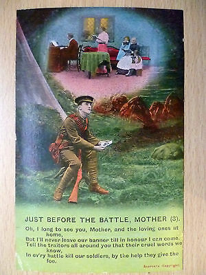 WW1 Military/ Navy Bamforth Song Postcard: Just Before The Battle, Mother (3)