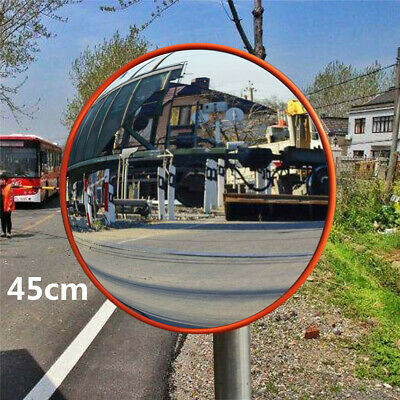 45cm Wide Angle Security Curved Convex Road Mirror Traffic Driveway Safety
