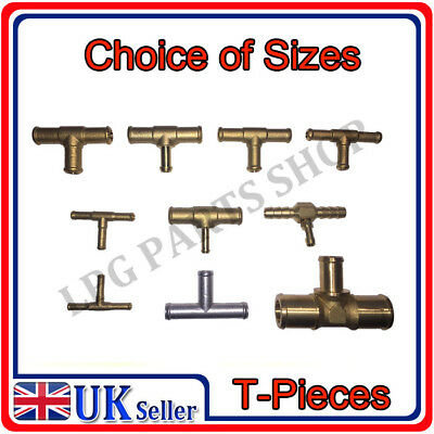 T PIECES many different sizes, BRASS, ALUMINIUM, METAL hose pipe water gas LPG