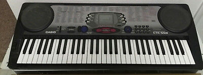 Casio CTK-558 61 Key Electronic Keyboard 100 Song Bank 100 Tones