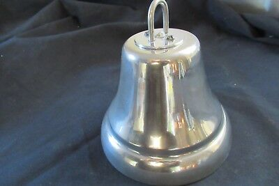 Vintage Chrome Hanging Door / Shop Bell - 24 volts Self Contained (butlers maid
