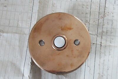 Vintage Round Copper Electric Door Bell Push (Reclaimed,