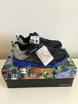 Skechers 90292L S Lights Flashpod Sneakers- Black//Red R39 Boys Youth New