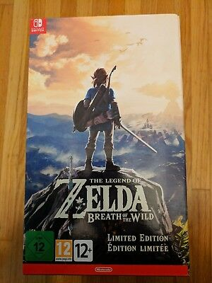 Legend of Zelda: Breath of the Wild Limited Edition w/ Master Sword Switch EURO