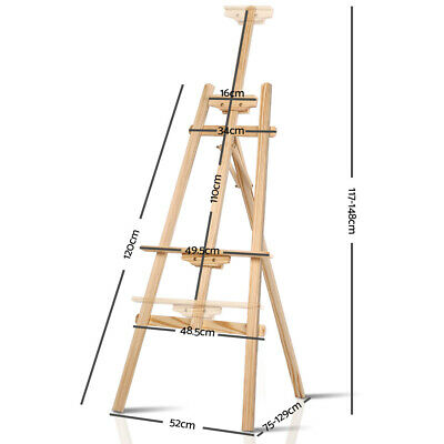 NEW A Frame Wooden Easel Signs Cafe Menu Display Wedding Home Decor Artist Stand