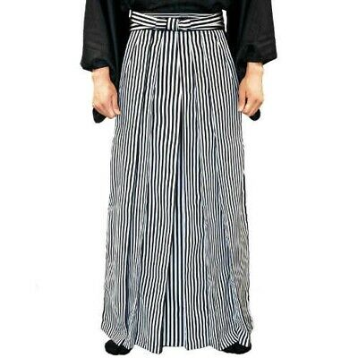 Traditional Japanese Mens Kimono Andon HAKAMA Stripe XL Japan EMS