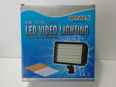 Neewer CN-216 Led Video Light for camera or camcorder-New open box
