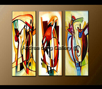 Framed Large Wall Art Modern Music Dance Abstract Oil Painting on Canvas Decor
