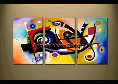 Large Art Wall Framed Modern Music Dance Abstract Oil Painting on Canvas Decor