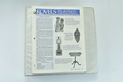 Lot 132 + 11 Index Kovels Antiques & Collectibles Newsletters 1995-2006 #07067
