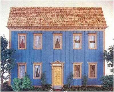 Colonial Doll House DIAGRAM Plans and Instructions - (Not finished item)