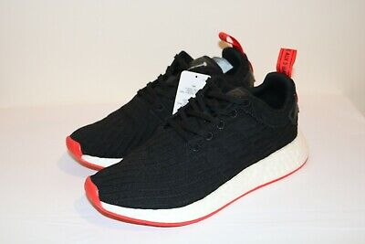 new product f6228 dee5f NEW MENS'S ADIDAS NMD R2 PK Primeknit Black/Red/White Sneaker BA7252 SZ 9.5