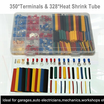 Car Electrical Kit 350 Terminals Connectors 328 2:1 Heat Shrink Tube 678Pcs/Set