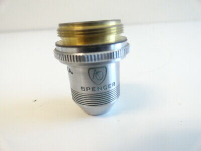A10:  AO SPENCER Microscope Objective American Optical 10x N.A. .25 Cat. # 1076