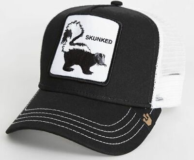 c1d56be420d74 New Goorin Bros. Skunked Animal Farm Trucker Snapback Hat Cap Black Skunk  Weed