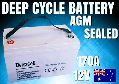 New 170A 12V Deep Cycle Gel Battery Agm Sealed Power Portable Led Caravan