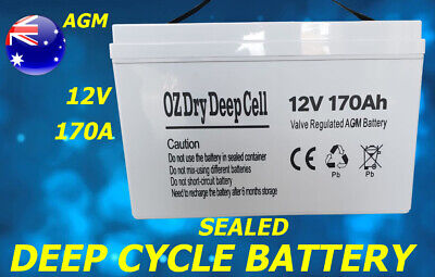 New 170A Agm 12V Deep Cycle Dry Battery Sealed Portable Power Led Boat Solar