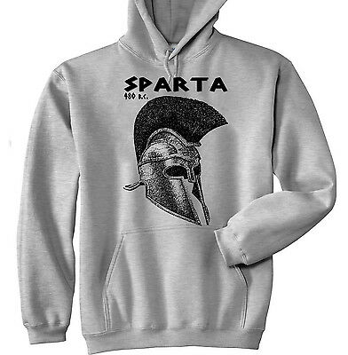 Sparta Leonidas Warrior - New Cotton Grey Hoodie - All Sizes In Stock