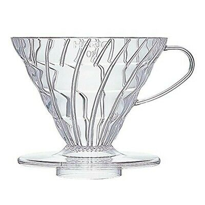 Hario : V60 Plastic Coffee Dripper Size 02 - Clear - for 1-4 cups (VD-02T)
