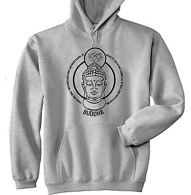 Buddha Two Mistakes Quote - New Cotton Grey Hoodie