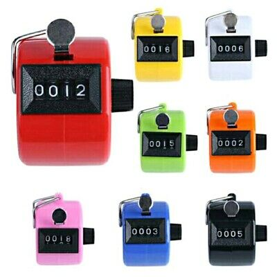 Mechanical Manual Palm Clicker Click 4 Digit Hand Tally Counter Count Number Csy