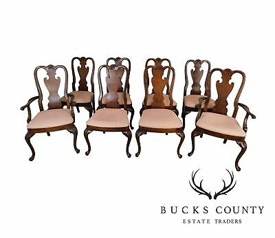 Thomasville Vintage Set of 8 Mahogany Queen Anne Dining Chairs