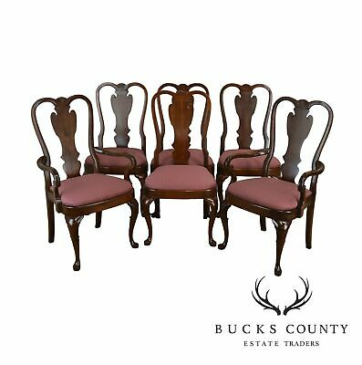 Pennsylvania House Cherry Queen Anne Style Set 6 Dining Chairs