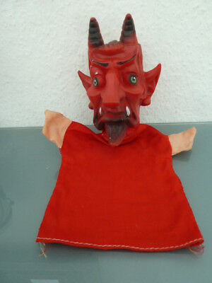 ALTER KRAMPUS/TEUFEL Handpuppe originell !!!