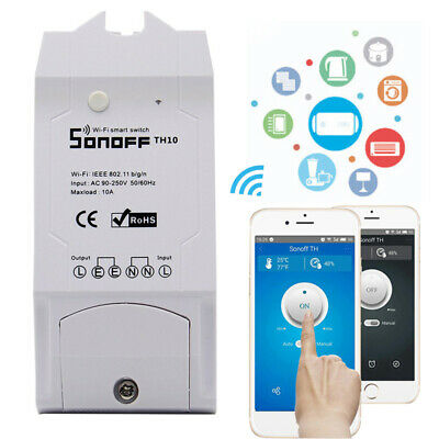 10A/16A Temperature Humidity Monitoring Wifi Smart Switch For Sonoff TH10/TH16