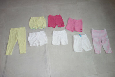 8 Shorts - Leggings - Gr. 80 / 86 - Sommer - Mädchen - TOP!!!