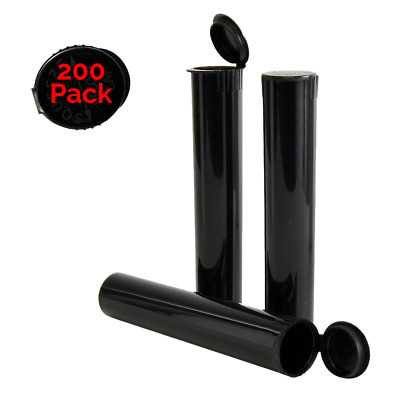 98MM Black Doob Tubes | 200 Pack | Ideal for Storing Pre Rolled Raw Cones