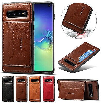 For Samsung S10e S9 Plus Note 8 A8 Case Leather Card Slot Wallet Slim Back Cover