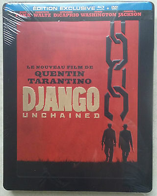 Django Unchained Blu-Ray Steelbook French Edition Française Mint New Sealed Neuf