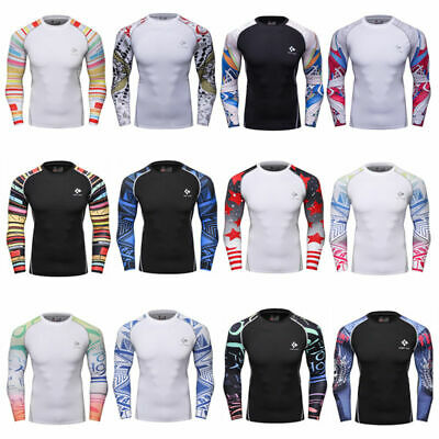 Men's Workout Compression Tops Running Basketball Jersey Tight Spandex T shirts