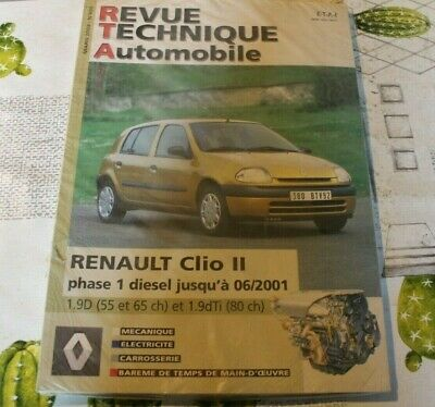 Revue technique automobile RTA RENAULT CLIO II phase 1 D avant 06 / 2001 n° 659