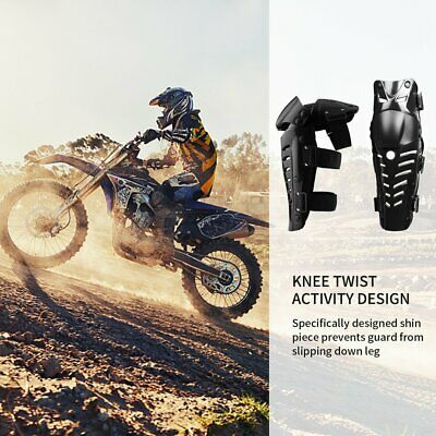 1 Pair of Adults Knee Shin Armor Protect Guard Pads for Motorcycle Racing Y96