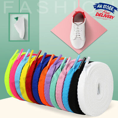 Colorful Shoelace No Tie Coloured Flat Bootlace Sports Sneaker Shoe Laces 120cm