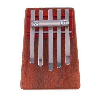 5 Key Kalimba Mbira Sanza Finger Thumb Piano Music Percussion Instrument