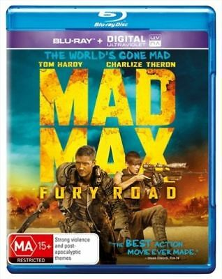 MAD MAX FURY ROAD New Blu-Ray + UV TOM HARDY CHARLIZE THERON **