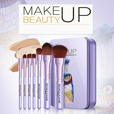 7 Pieces Set Professional Makeup Brushes Toiletry Kit Soft Women Beauty Bag Tool