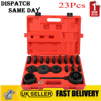 23PC FWD Front Wheel Drive Bearing Removal Adapter Puller Pulley Tool Kits Case