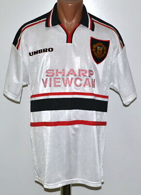 Manchester United 1997/1998/1999 Away Football Shirt Jersey Umbro Size L Adult
