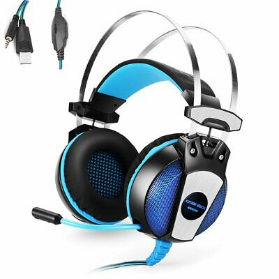 3.5mm Gaming Headset Mic Stereo Bass LED Headphone For SW PC PS4/Slim/Ipad Phone