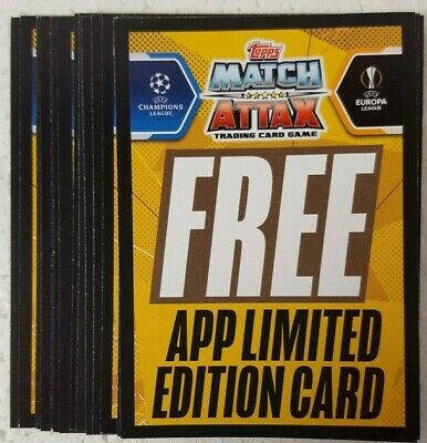 MATCH ATTAX 2017/18 UEFA Champions League HAT TRICK HERO Card Set of 5 + TROPHY