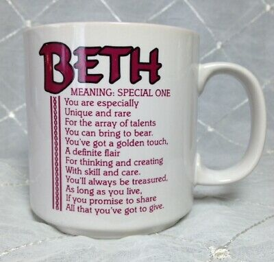 You Can Trust Beth To Get S--t Done Funny Named Gift Mug Pink