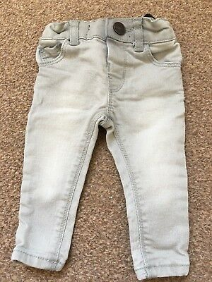 Boys River Island Mini Grey Skinny Jeans 0-3 Months B63